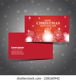 christmas card modern design