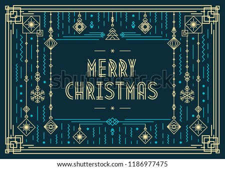 Christmas Card Modern Typography New Year Stock Vector Royalty Free