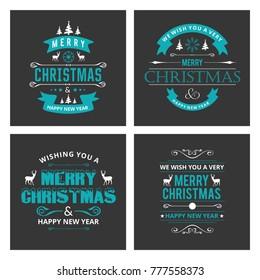 Christmas card sets black background