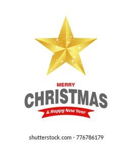 Christmas card with star