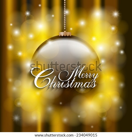 Christmas Card Template Bauble On Abstract Stock Vector Royalty