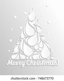 Christmas card with Christmas tree. Modern vector background