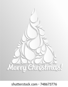 Christmas card with Christmas tree. Vector background