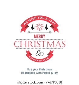 Christmas card with typography vector