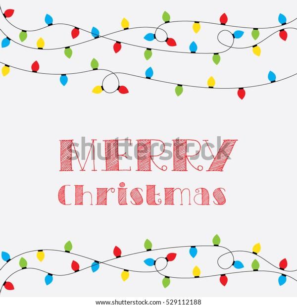 Christmas Card Clip Art.Christmas Card Vector Clipart Illustration Festive Stock