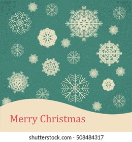 christmas card. Vector illustration abstract Christmas Background Vintage. Vintage card, holiday card, winter card, greeting cards, snowflake card, christmas card