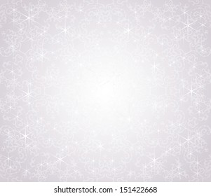 Christmas card. Winter design.  Seamless background