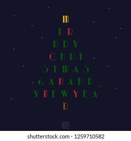 Christmas Card Xmas tree vector