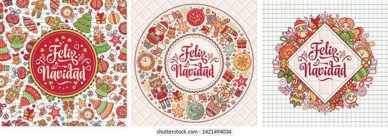 Christmas cards in Spanish. Christmas greeting.Navidad.Feliz navidad.Christmas banner. Xmas Background design Merry Chrismas  greeting card.Postcard in Spain.Chrismas banner. Xmas Background design