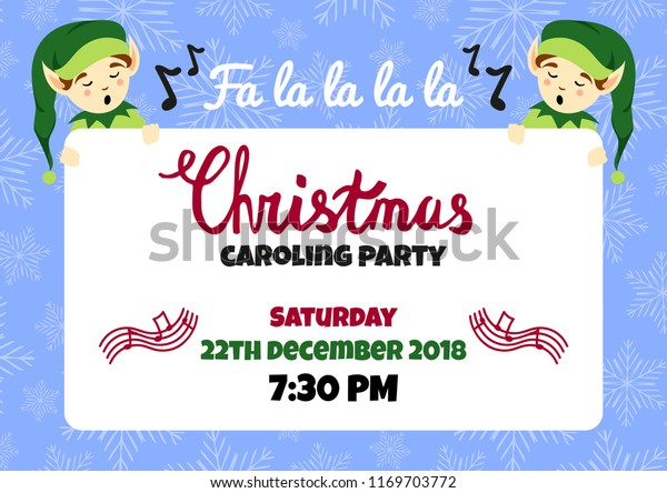 Christmas Caroling Images.Christmas Caroling Party Poster Flyer Vector Stock Vector Royalty