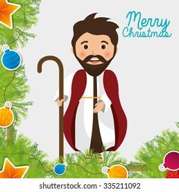 Christmas cartoon graphic design, vector illustration eps10
