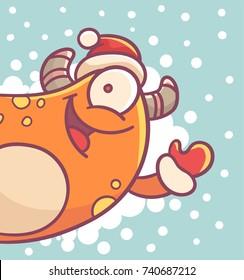 Christmas Cartoon Monster