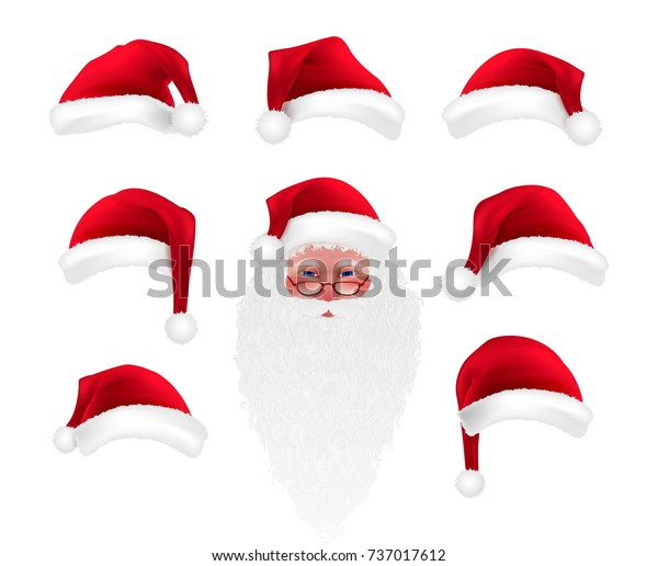 Christmas Images Free Cartoon.Christmas Cartoon Photo Booth Props Collection Stock Vector
