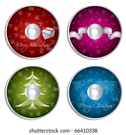 Christmas cd design set