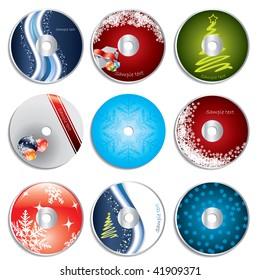 Christmas cd&dvd labels