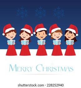 Christmas Choir. Christmas Carols.