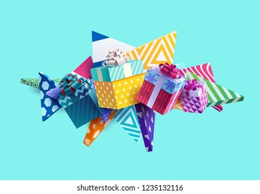 Christmas colorful gifts