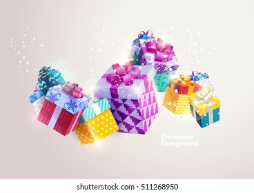 Christmas colorful gifts