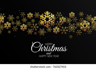 Christmas colorful greeting card made in polygonal origami style. Party poster, greeting card, banner or invitation. Ornaments formed by triangles. Vector