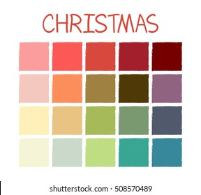 Christmas Colors Palette.Christmas Color Palette Images Stock Photos Vectors