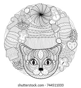 christmas coloring page 260nw