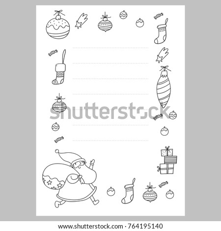 christmas coloring page christmas wish list with santa a letter to santa template