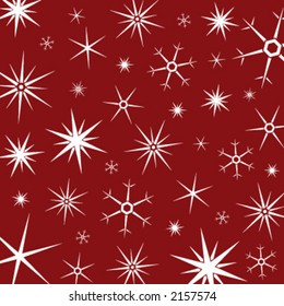 christmas composition of snow flakes