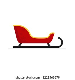 Christmas concept,Santa sleigh,isolated on white