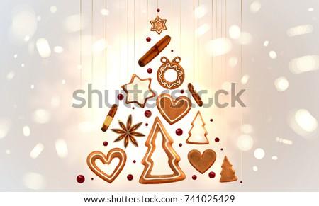 Christmas Cookies Gingerbread Man Sweet Xmas Stock Vector (Royalty ...