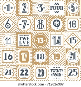 photograph relating to Advent Calendar Numbers Printable called Arrival Quantities Printable Pics, Inventory Pics Vectors
