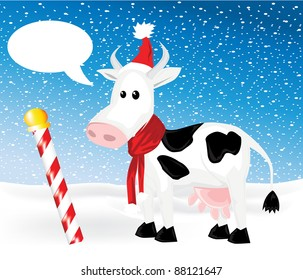 Christmas cow background