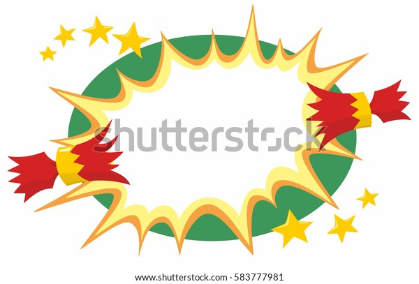 Christmas Cracker Vector.Christmas Cracker Red Gold Being Pulled Stock Vector