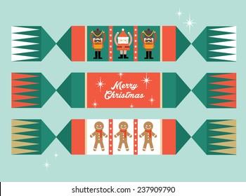 christmas cracker vector/illustration