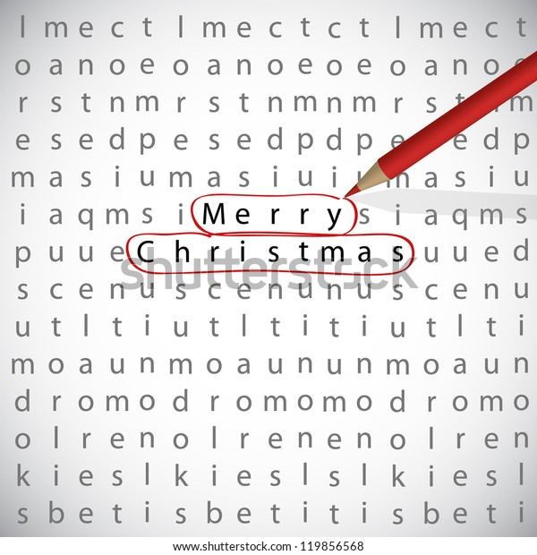 Christmas Crossword.Christmas Crossword Light Text Merry Christmas Stock Vector