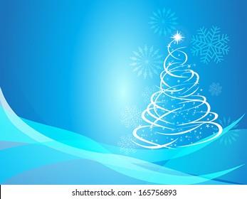 Christmas curve tree background