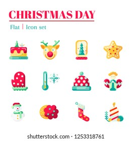 Christmas day.The Christmas icon set. It are flat icon and illustration.