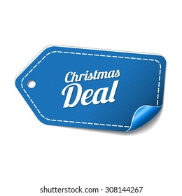 Christmas Deal Blue Vector Icon Design