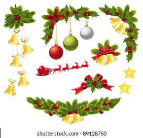 Christmas decoration elements. Vector