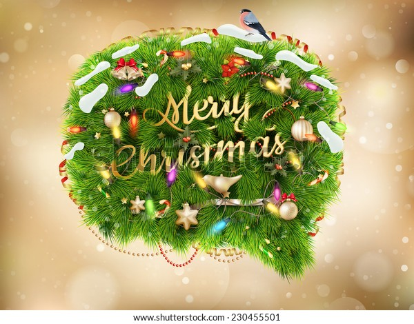 Christmas decoration on abstract background. EPS 10 vector file included