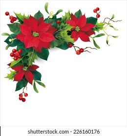 Christmas decoration on white. Vector eps 10.