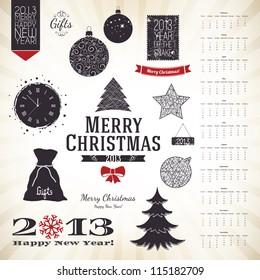 Christmas decoration set for your design