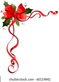 Christmas decoration with space for text