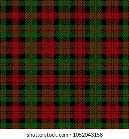 Christmas Decoration Tartan Plaid Pattern