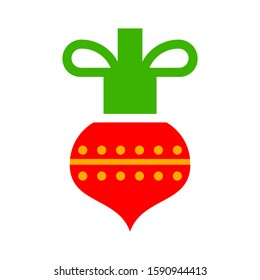 Christmas decorations ornament, holly decorative element. Design element for Christmas decoration. Vector illustration