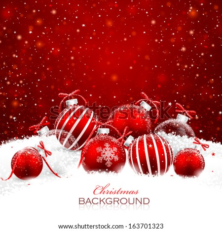 Christmas Decorations Snow Stock Vector (Royalty Free) 163701323 ...