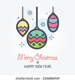 christmas decorations vector icon