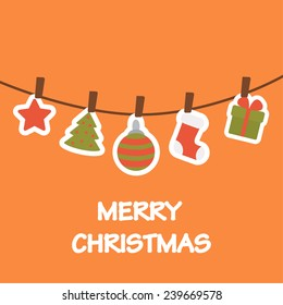 Christmas decorations. vector illustration