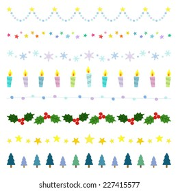 Christmas decorative borders / Vector EPS 10 illustration
