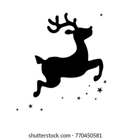 Christmas Reindeer Silhouette.Reindeer Silhouette Billeder Lagerfotos Og Vektorer