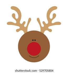 Christmas deer. flat design.